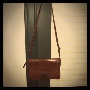Pollini Brown Genuine Leather crossbody Purse
